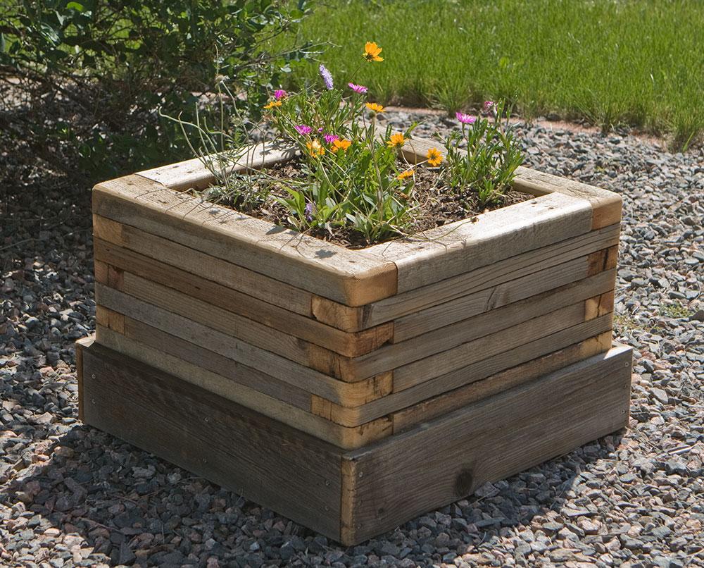 Brand-new reclaimed-stacked-wood-planter_1 - Custom by Rushton, LLC UJ21