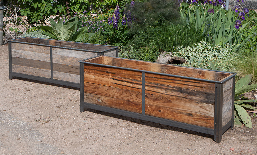 Top steel-frame-planters-with-cedar-inserts_7 - Custom by Rushton, LLC HE86