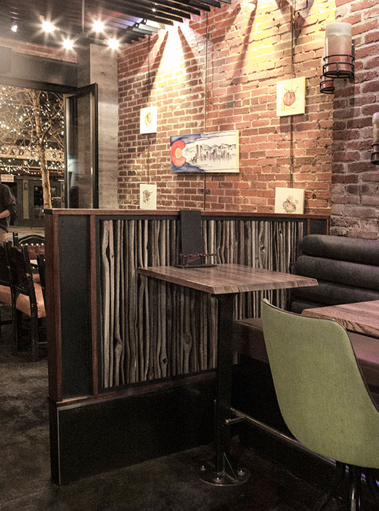 Divider Wall At El Camino Tavern Custom By Rushton Llc