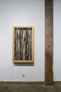 Cedar Wall piece with mirror back, 2010