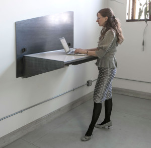Stand-up computer tables, adjustable in hight, 2015
