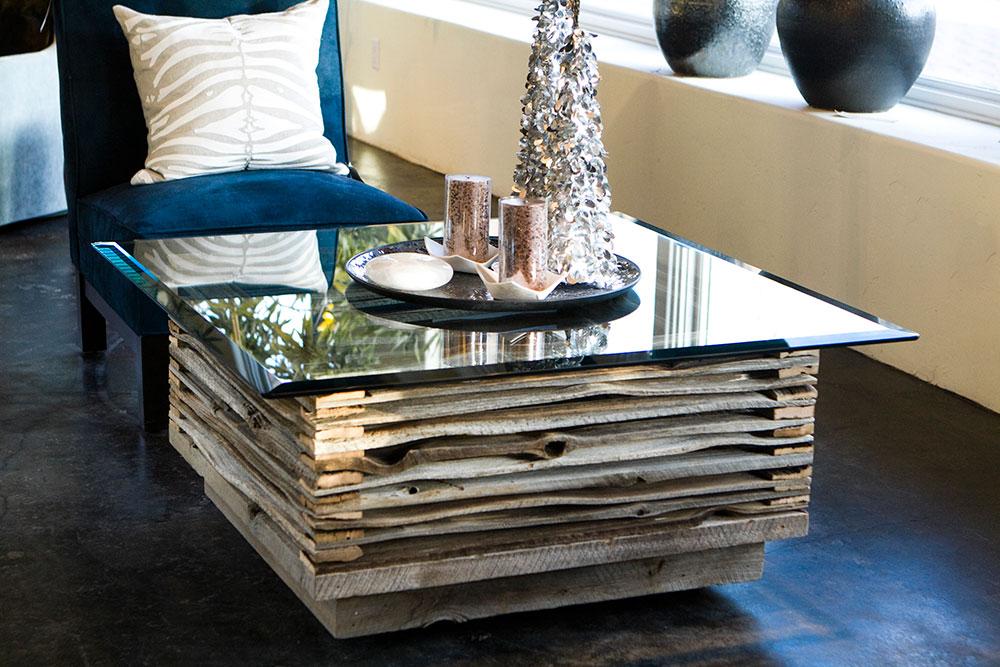 Hand split cedar coffee table 13 custom by rushton llc for 13 table
