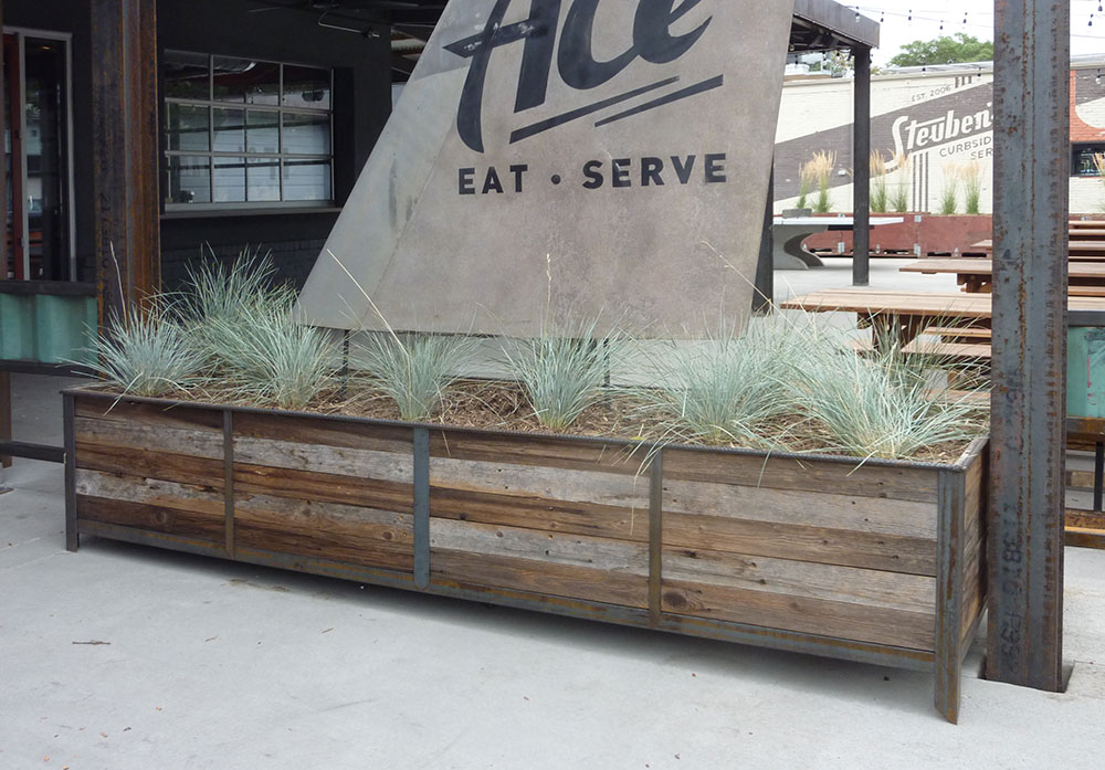 Reclaimed Wood Planter WB Designs - Reclaimed Wood Planter WB Designs