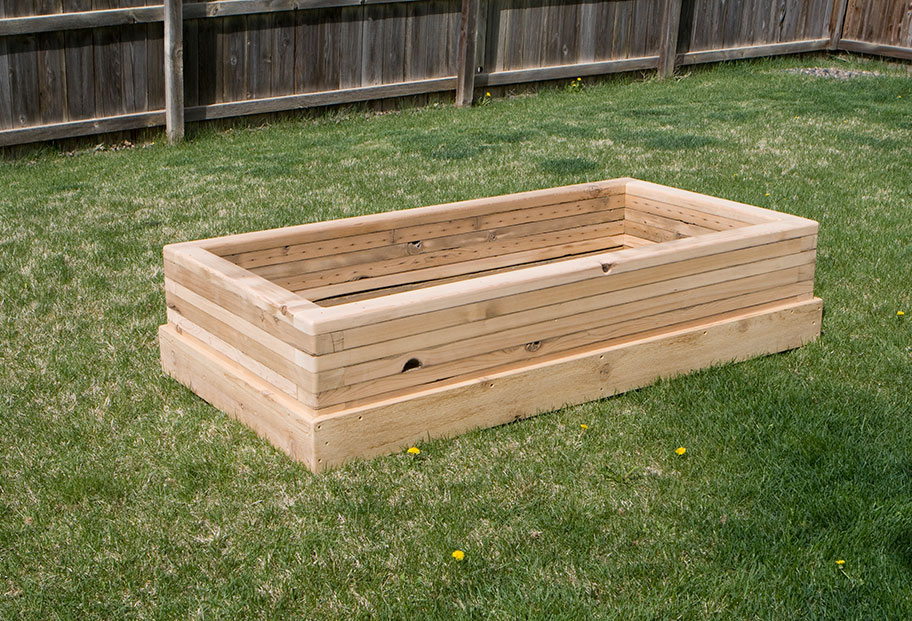 Reclaimed Wood Raised Bed Garden Planters Custom by Rushton LLC
