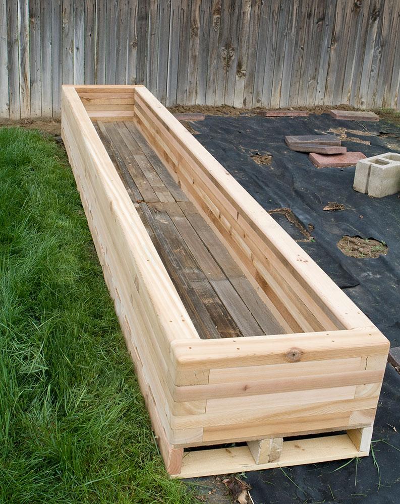 Reclaimed Raised Garden Bed Planter 3