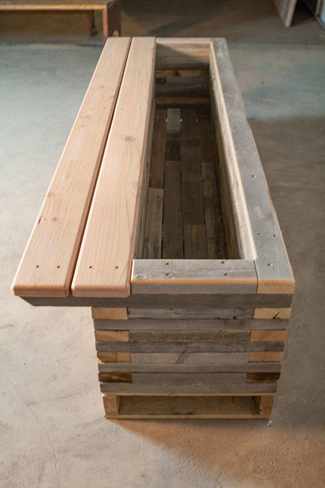 Reclaimed Raised Garden Bed Planter 6 Custom By Rushton Llc