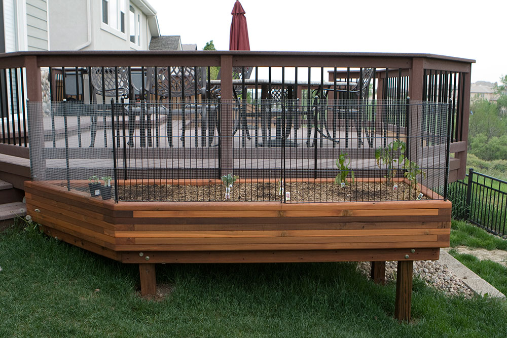 Reclaimed Wood Raised Bed Garden Planters With Critter Frame